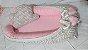 Ninho Berço para Bebê - pompom -  Rosa + Travesseiro Nuvem - Imagem 1