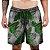 Short Praia Tactel Adrenalina - Green Flowers - Imagem 1