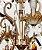 LUSTRE RICHMOND DOURADO COM CRISTAIS AMBAR/TRANSPARENTES - Imagem 3