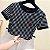 Camiseta Feminina Love Listrada Curta - Imagem 2