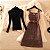 Vestido Xadrez Vintage + Cinto + Blusinha - Imagem 1