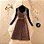 Vestido Xadrez Vintage + Cinto + Blusinha - Imagem 3