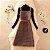 Vestido Xadrez Vintage + Cinto + Blusinha - Imagem 4