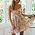 Vestido Curto Floral - Imagem 1