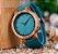 Relógio Feminino de Bambu Turquesa - Imagem 3