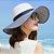 Chapéu Feminino de Palha Listrado - Imagem 1