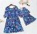 Vestido Tal Mãe Tal Filha Azul Floral - Imagem 2