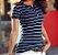 Camiseta Feminina Listrada - Imagem 1