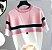 Camiseta feminina Tricotada Listrada - Imagem 1