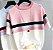 Camiseta feminina Tricotada Listrada - Imagem 4