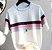 Camiseta feminina Tricotada Listrada - Imagem 2