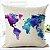 Capa de almofada mapa mundi - Imagem 1