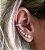 Brinco Ear Cuff Thássia Pérolas - Ródio - Imagem 1