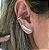 Brinco Ear Cuff Baguetes - Prata - Imagem 1