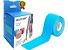 Fita Kinesio Multilaser Muscle Fix 5x25 cm Pré Cortada Azul HC138 - Imagem 1