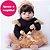 Enxoval de Princesa para Bebê Reborn 55cm - Somente a Roupinha! - Imagem 1