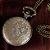 WOLF Relógio De Bolso Incrível Colar Cadeia Pingente Bronze - Imagem 3