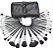 Kit 32 Pinceis profissionais com estojo display de couro - Imagem 6