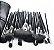Kit 32 Pinceis profissionais com estojo display de couro - Imagem 2