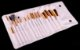 Kit 15 Pinces Premium MSQ - Cerdas Brancas e Cabo Branco + Estojo - Imagem 12