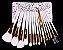 Kit 15 Pinces Premium MSQ - Cerdas Brancas e Cabo Branco + Estojo - Imagem 11