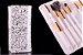 Kit 15 Pinces Premium MSQ - Cerdas Brancas e Cabo Branco + Estojo - Imagem 13