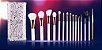 Kit 15 Pinces Premium MSQ - Cerdas Brancas e Cabo Branco + Estojo - Imagem 2