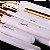 Kit 15 Pinces Premium MSQ - Cerdas Brancas e Cabo Branco + Estojo - Imagem 8