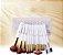 Kit 15 Pinceis Premium Antialérgicos + Estojo - Imagem 2