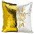 Capa de Almofada Dourada Mágica Lantejoulas Sublimática  - Imagem 1