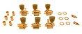 Tarraxa Grover Vintage 3x3 Gold Dourada - Jogo 135g   - Imagem 2