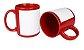 Caneca Vermelha Tarja Branca 325ml - Imagem 2