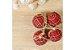 Kit Bola de Natal Xadrez Hang Vermelha com 8 Peças - Etna - Imagem 3