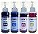 Kit Refil Tinta Compatível L200 L210 L355 L555-4. Com 100ml - Imagem 1