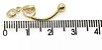 Piercing de Umbigo em Ouro amarelo 18K - 2 Pedras em formato de coração - Imagem 6