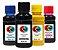 Kit Tinta Para Bulk Ink Jato de Tinta Hp Canon Lexmark 100 ml Corante - Imagem 1