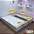 Cama auxiliar mobili kids branca - cama auxiliar com estrutura para cama auxiliar - Imagem 5
