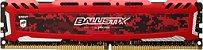Crucial Ballistix Sport LT Red 8GB 288-Pin DDR4 32000MHz (PC4 25600) (BLS8G4D32AESEK) - Imagem 1