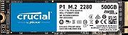 Crucial P1 SSD M.2 500GB 3D NAND NVMe PCIe (CT500P1SSD8) - Imagem 1