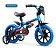 Bicicleta Infantil Nathor Aro 12 Veloz 2 Azul Preto  - Imagem 1