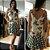 Vestido Cholet de Linho Mix Estampas Babado - Imagem 1