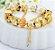 Pulseira Prata Berloques Dourados - Imagem 1