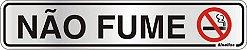 Placa de Sinalização Alumínio NÃO FUME - 5 x 25 cm  - Imagem 1