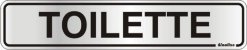 Placa de Sinalização Alumínio TOILETTE - 5 x 25 cm  - Imagem 1
