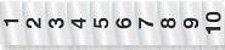 Placa Sinalizadora Alumínio 5 x 25 cm  NUMERAL DE 1 A 10  - Imagem 1