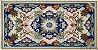 Par de Tapetes para quarto Arraiolo Sintra - Azul - Imagem 1