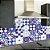 Adesivo de Azulejo Hidráulico Royal e Branco - Imagem 1