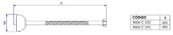 LIGAÇÃO FLEXÍVEL 40CM - 4606.BL.040.MT - Imagem 2
