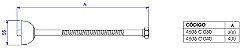 LIGAÇÃO FLEXÍVEL 40CM - 4606.GL.040.RD - Imagem 2