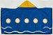 Toalha c/ capuz fundo do mar - Imagem 1